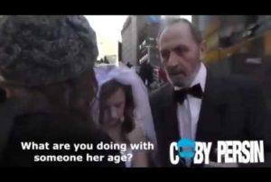 Un homme de 65 ans et d'une mineur de 12 ans prennent des photos de mariage en plein New York