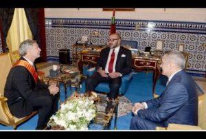 Cérémonie de signature d'un protocole d'accord pour la création d'un écosystème industriel de Boeing au Maroc