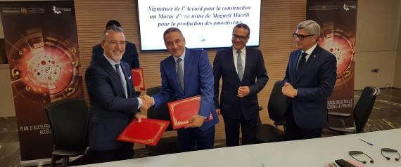 Automobile: Le groupe italien Magneti Marelli installe une usine d'amortisseurs au Maroc