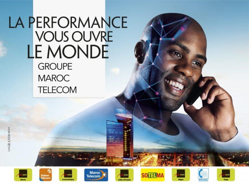 Maroc Telecom lance sa campagne institutionnelle à Abidjan où le président Ouattara reçoit Ahizoune