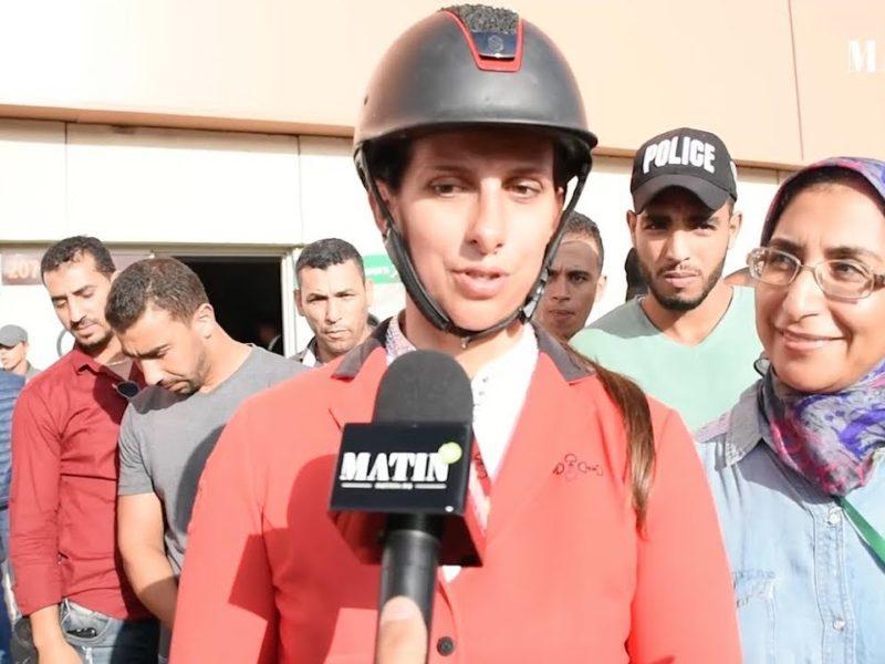 Virginie Thonon, gagnante du G.P. du Roi Mohammed VI de saut d'obstacles