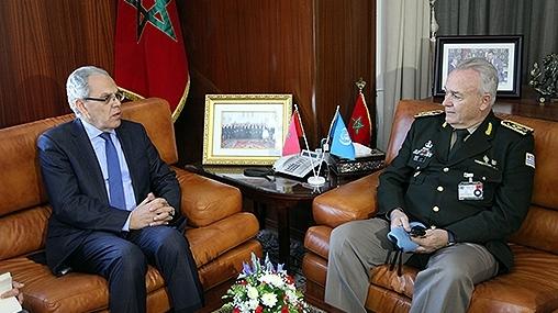Le Conseiller militaire de l'ONU reçu par Abdeltif Loudyi et l'Inspecteur Général des FAR