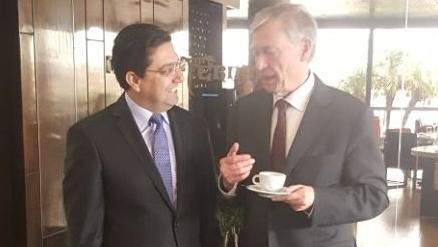 """Bourita: """"Atmosphère de sérénité"""" dans les discussions bilatérales avec Horst Kohler"""