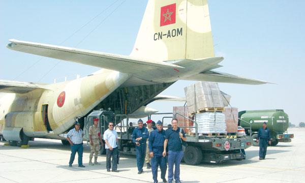 Maroc: Poursuite du pont aérien humanitaire au profit des  palestiniens