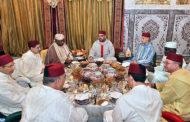 Le Roi offre un Iftar en l'honneur du président gabonais et du président de la Commission de l'Union Africaine