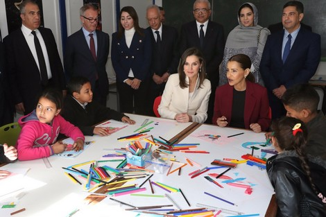 Lalla Maryam et la reine Letizia visitent l'école de la deuxième chance