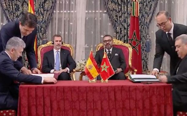 En vidéo... onze accords signés entre le Maroc et l'Espagne