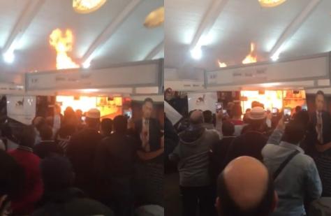 Un incendie au Salon international de l'édition et du livre de Casablanca (SIEL 2019)